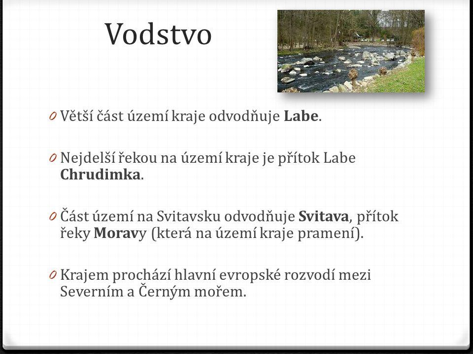 Vodstvo 0 Větší část území kraje odvodňuje Labe.