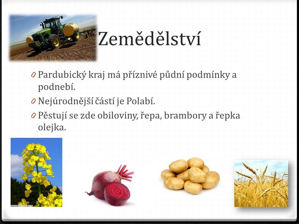 Zemědělství 0 Pardubický kraj má příznivé půdní podmínky a podnebí.