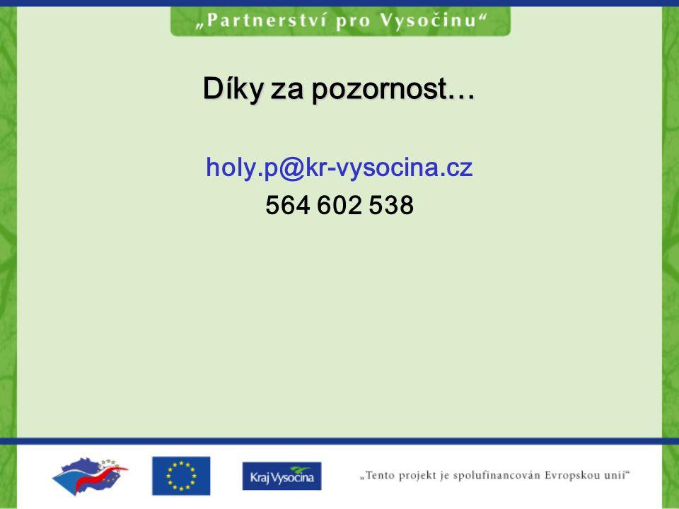 Díky za pozornost… holy.p@kr-vysocina.cz 564 602 538