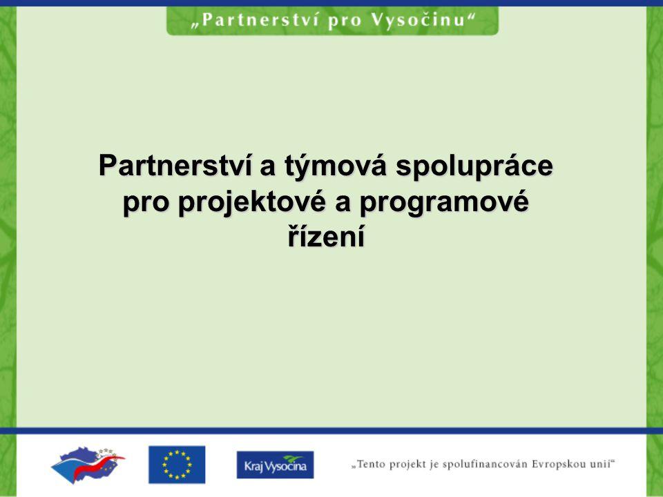 Partnerství a týmová spolupráce pro projektové a programové řízení