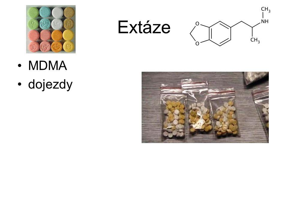 Extáze MDMA dojezdy