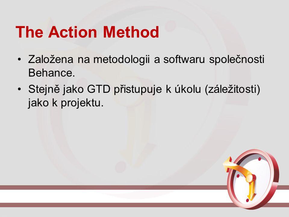 The Action Method Založena na metodologii a softwaru společnosti Behance. Stejně jako GTD přistupuje k úkolu (záležitosti) jako k projektu.