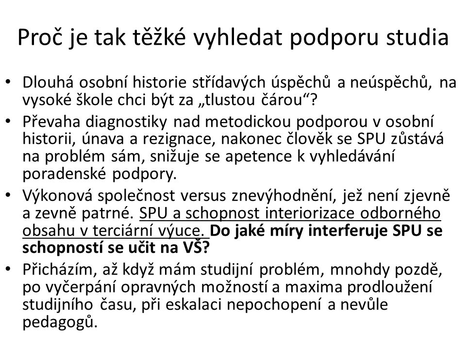 Diagnostika SPU