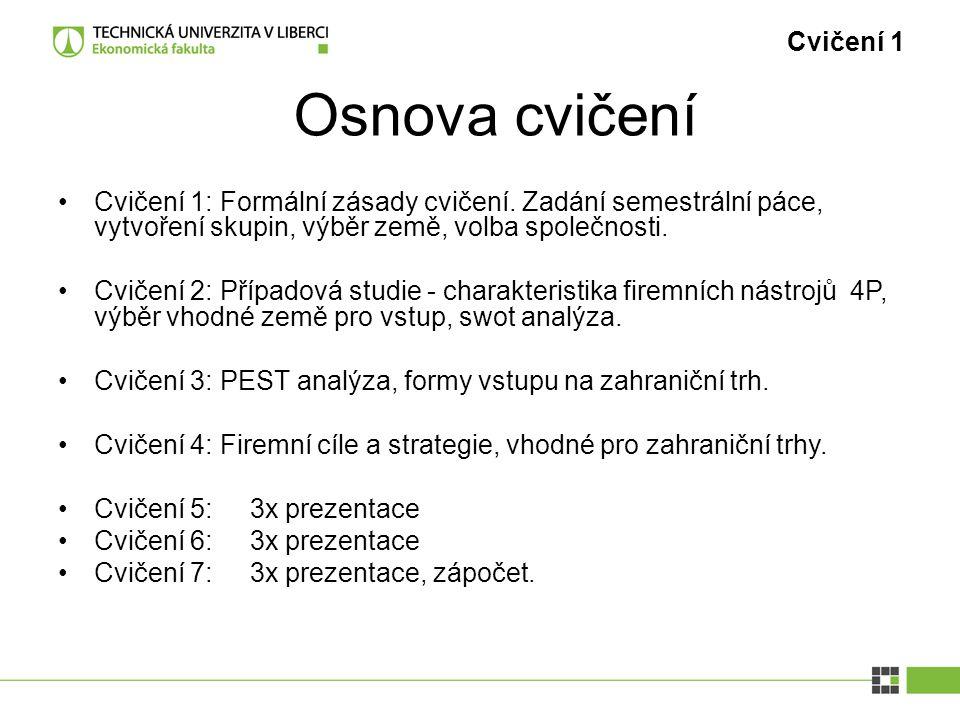 Cvičení 2 ------ SWOT analýza firmy Svijany Intern í analýza S: Siln é str á nkyW: Slab é str á nky Extern í analýza O: Př í ležitosti T: Hrozby ------