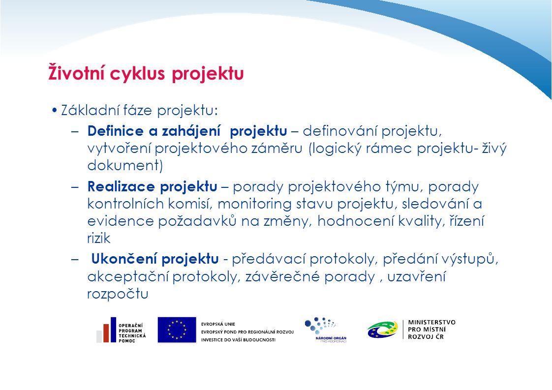 Definice projektu v kontextu EU Projektem v kontextu fondů EU se rozumí konkrétní ucelený podrobně rozpracovaný projektový záměr, který je součástí projektové žádosti.
