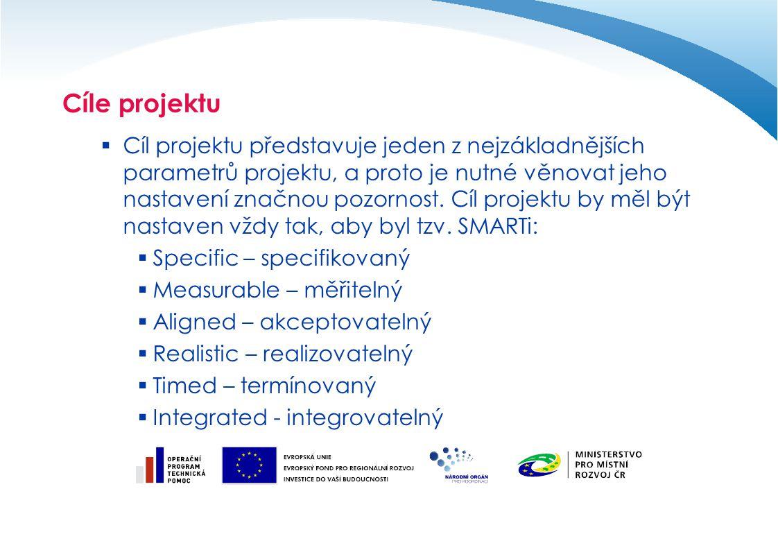 Aktivity projektu  Aktivity projektu jsou nastaveny v závislosti na charakteru projektu a odrážejí jeho podstatu.
