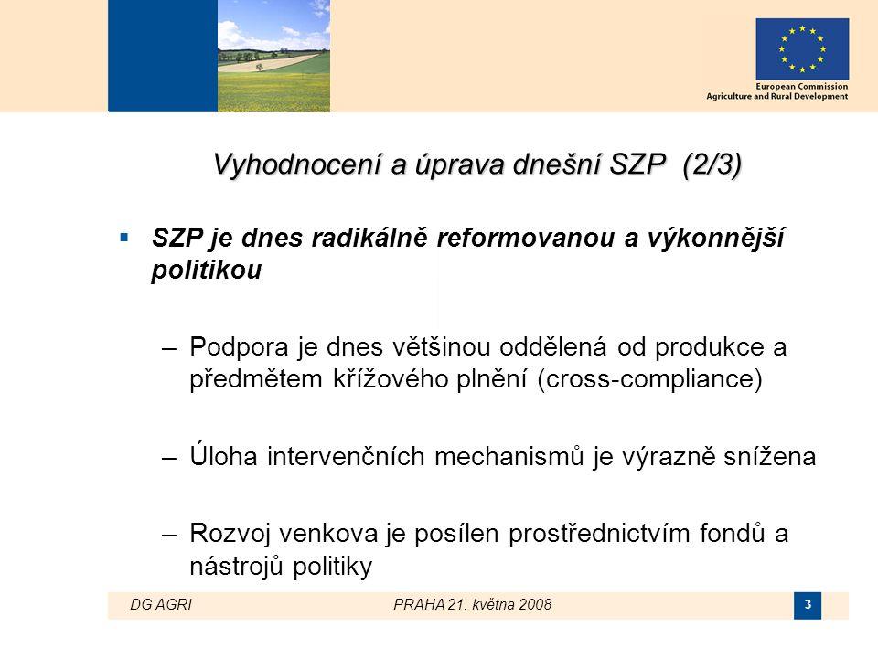 DG AGRI PRAHA 21. května 2008 4 Výdaje SZP a její reforma EU-10EU-12EU-15EU-25EU-27