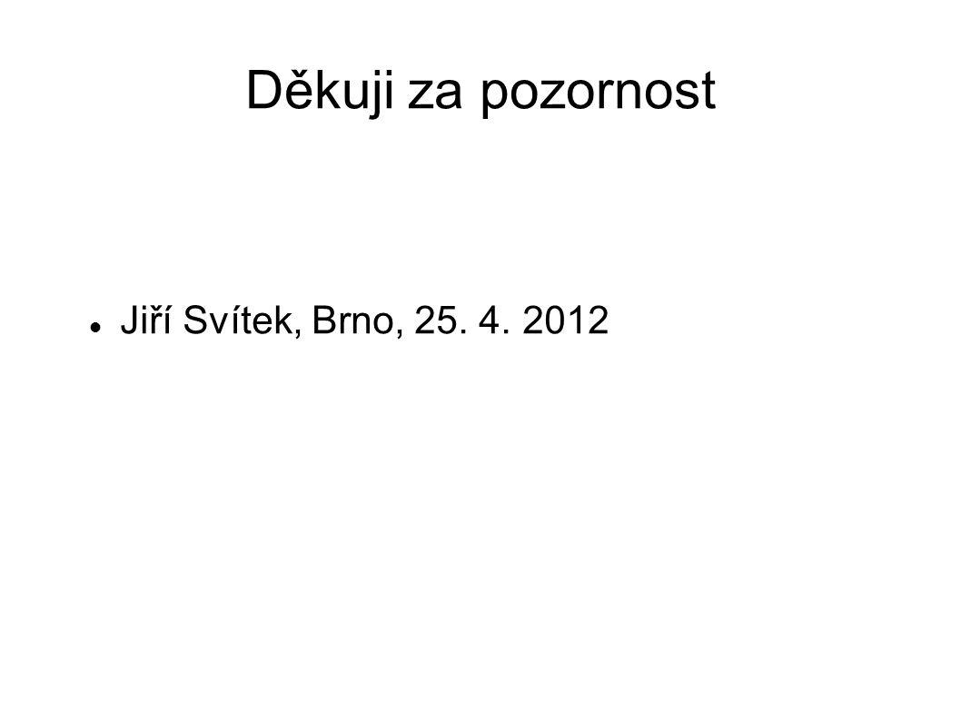 Děkuji za pozornost Jiří Svítek, Brno, 25. 4. 2012