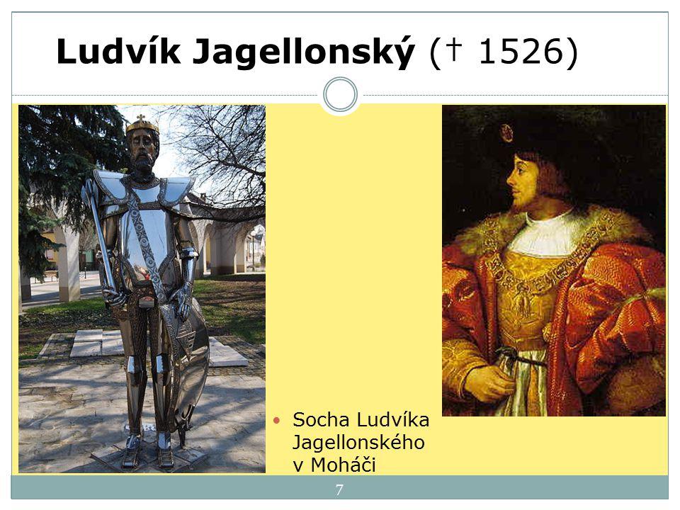 7 Ludvík Jagellonský († 1526) Socha Ludvíka Jagellonského v Moháči