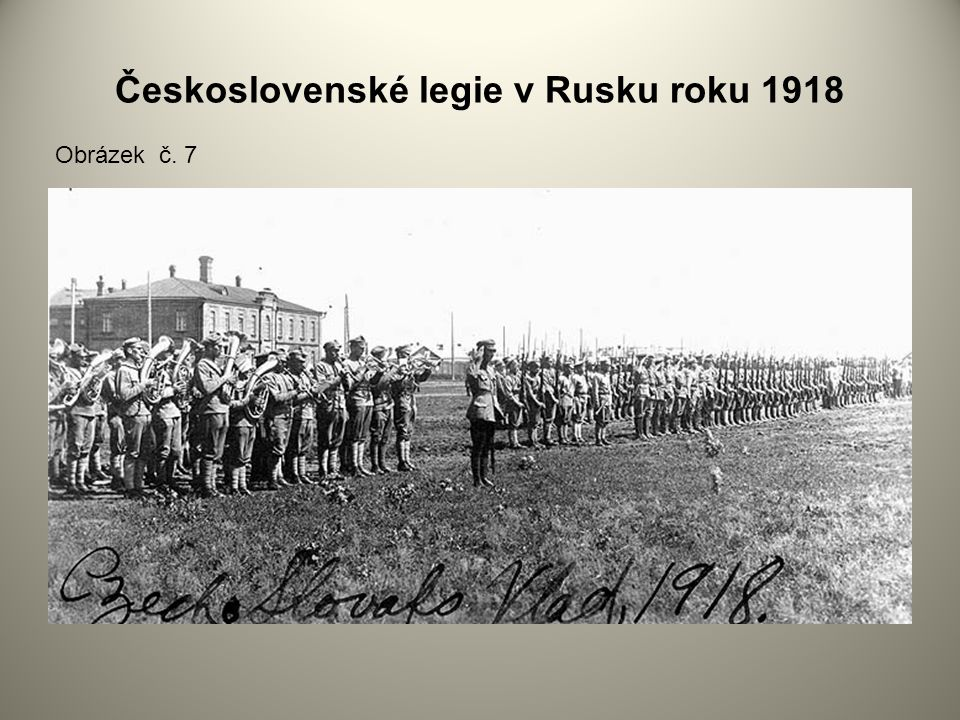 Československé legie v Rusku roku 1918 Obrázek č. 7
