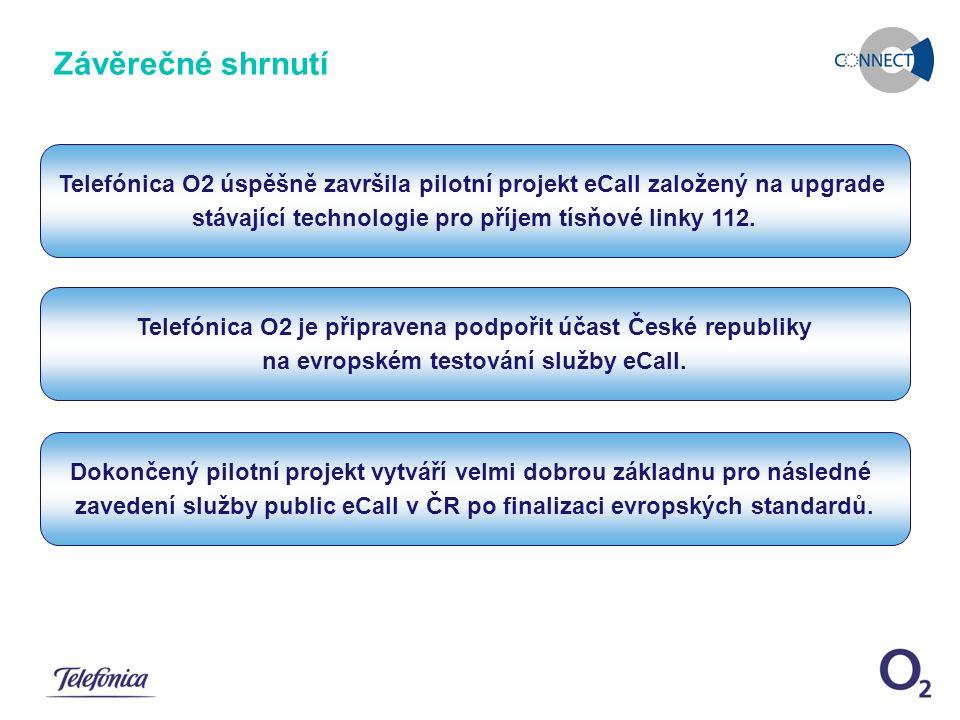 December 11, 2007eCall pilotní řešení Snímek 8 Dokončený pilotní projekt vytváří velmi dobrou základnu pro následné zavedení služby public eCall v ČR po finalizaci evropských standardů.