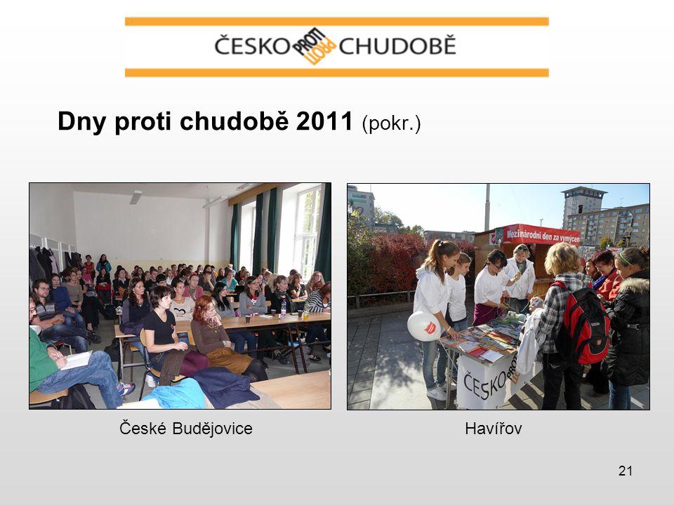 21 Dny proti chudobě 2011 (pokr.) České BudějoviceHavířov