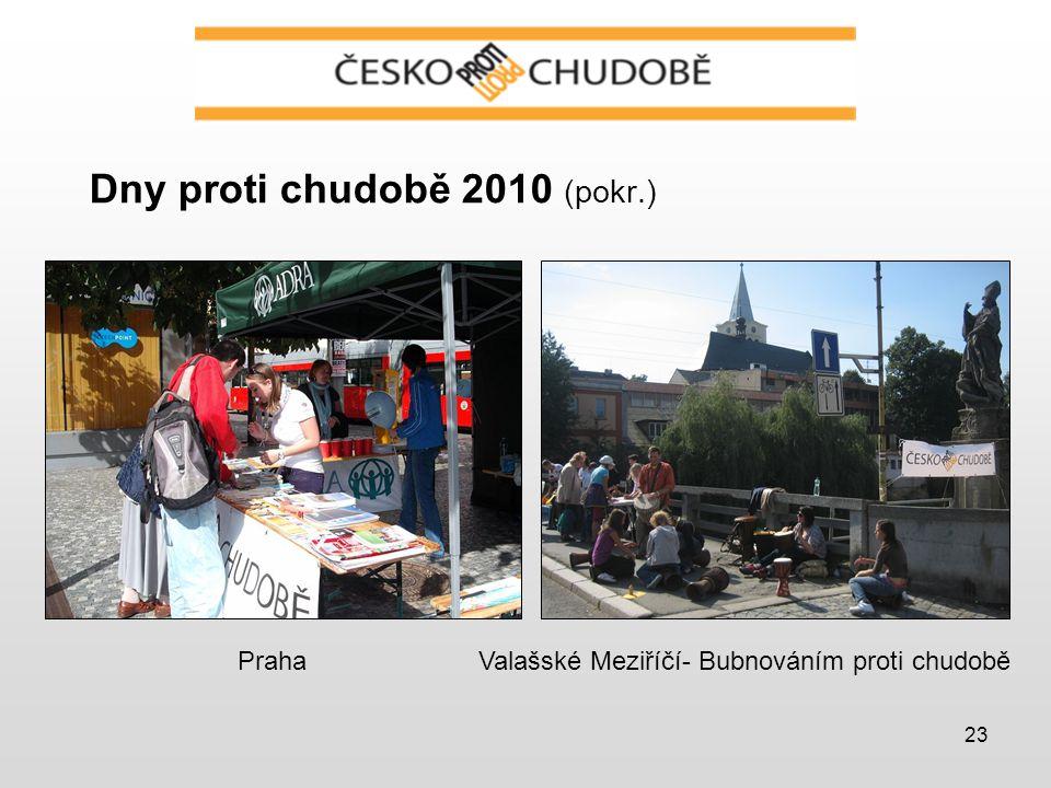 23 Dny proti chudobě 2010 (pokr.) Valašské Meziříčí- Bubnováním proti chudoběPraha