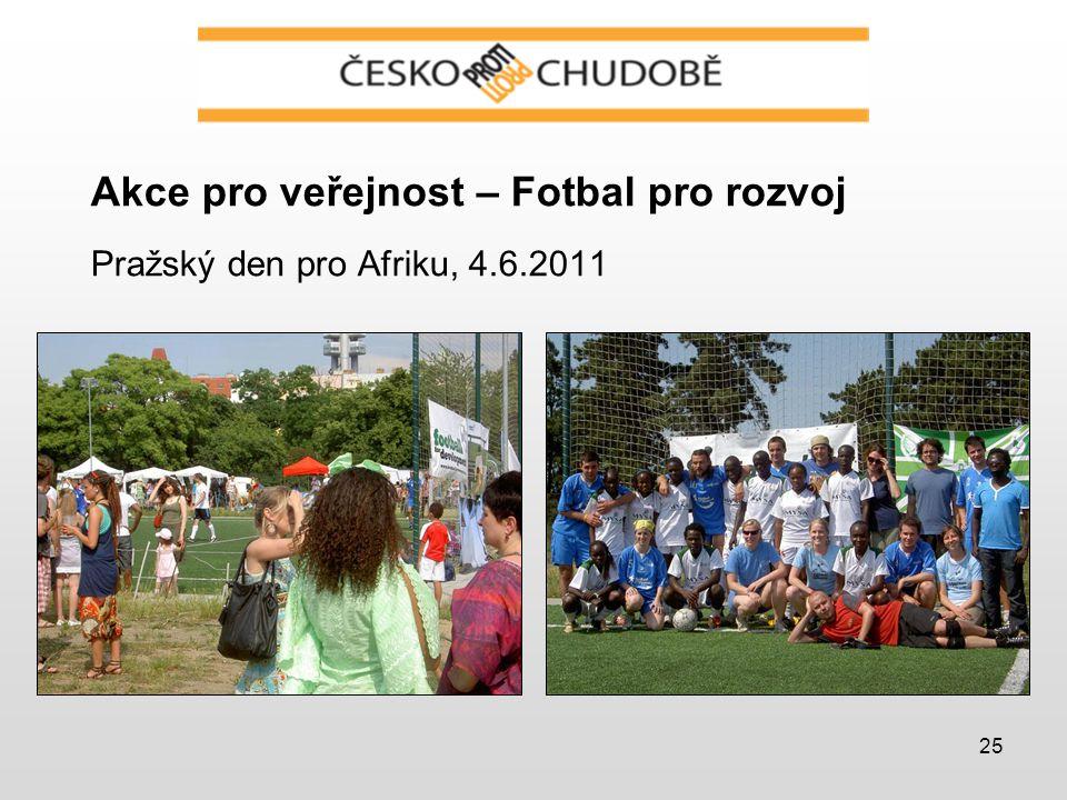 25 Akce pro veřejnost – Fotbal pro rozvoj Pražský den pro Afriku, 4.6.2011