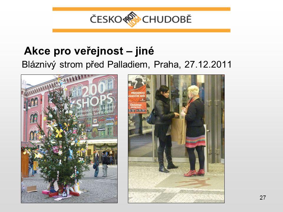 27 Akce pro veřejnost – jiné Bláznivý strom před Palladiem, Praha, 27.12.2011