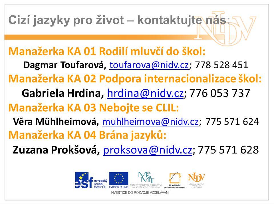 Cizí jazyky pro život – kontaktujte nás.