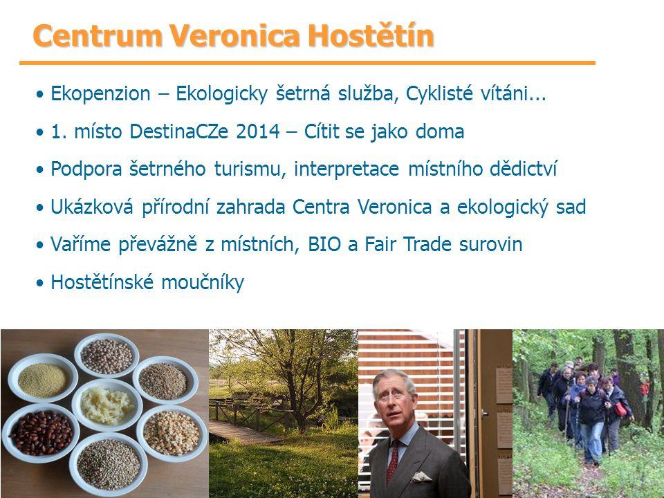 Centrum Veronica Hostětín Ekopenzion – Ekologicky šetrná služba, Cyklisté vítáni... 1. místo DestinaCZe 2014 – Cítit se jako doma Podpora šetrného tur