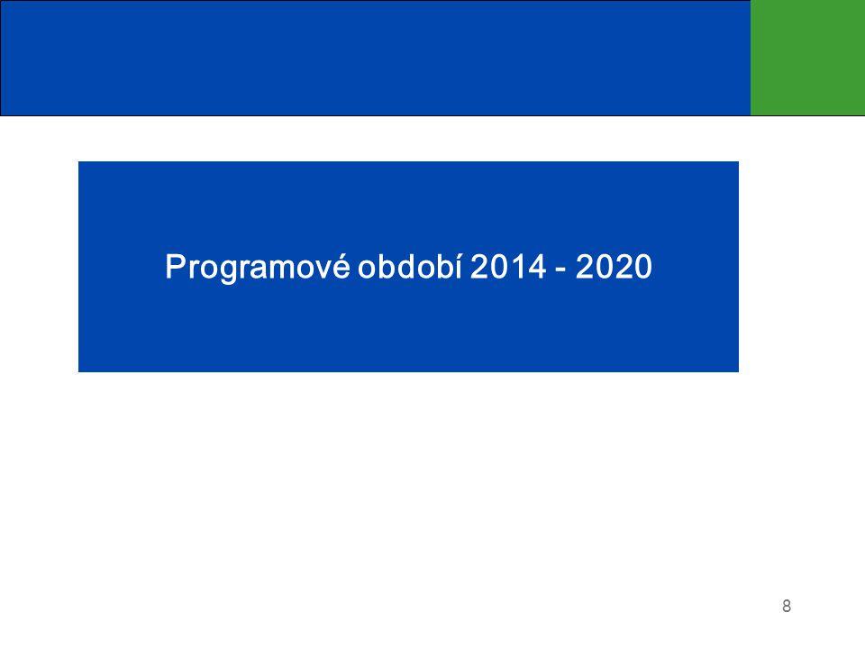 Programové období 2014 - 2020 8