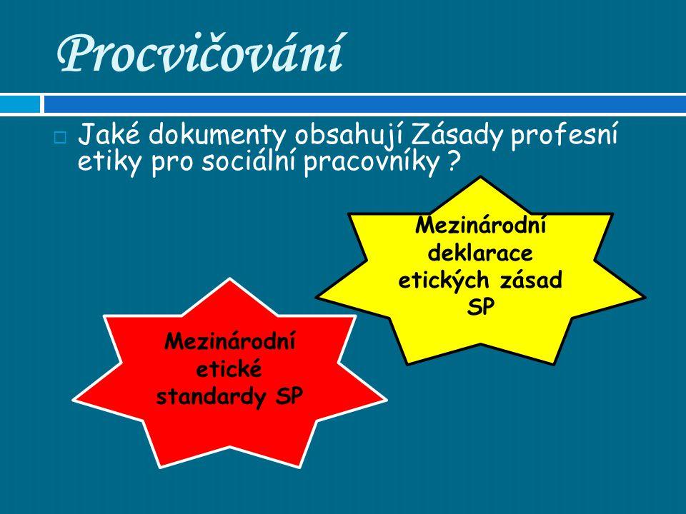 Procvičování Vzpomenete si v čem zabraňuje ETIKA sociálním pracovníkům při sociální práci s klienty??.