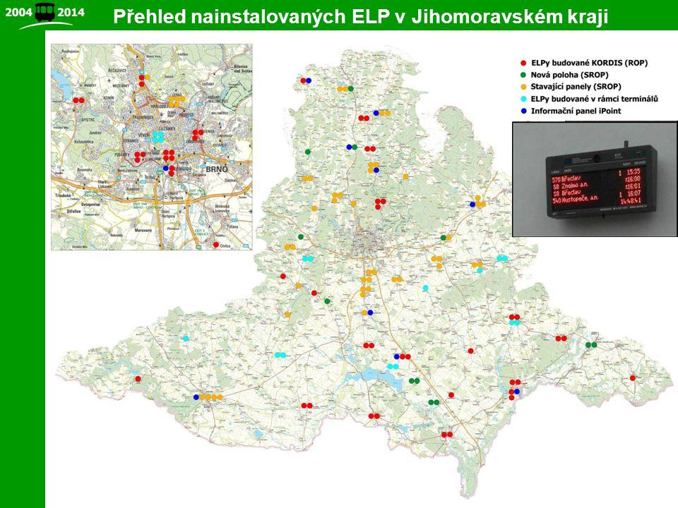 5 Přehled nainstalovaných ELP v Jihomoravském kraji