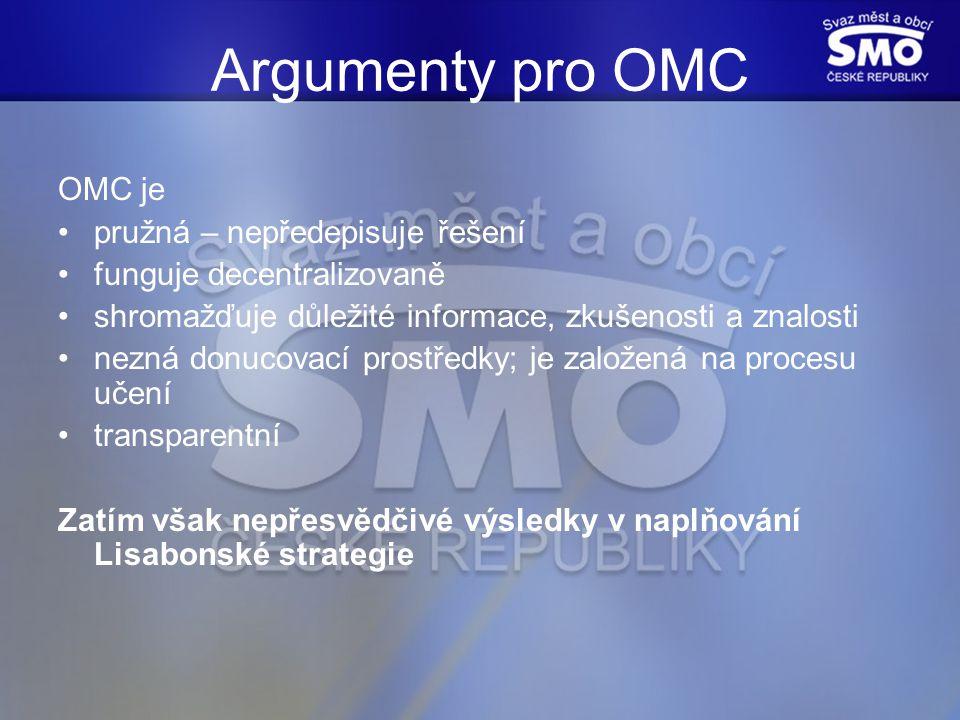 Proč OMC selhává.