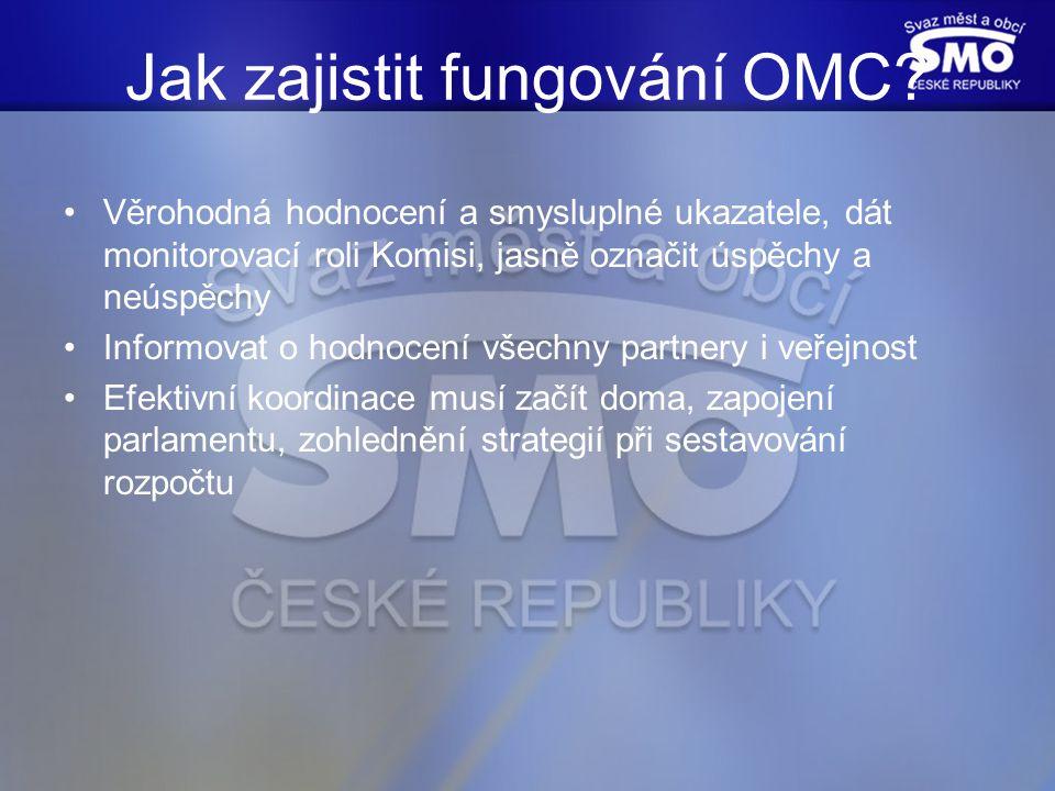 Jak zajistit fungování OMC.