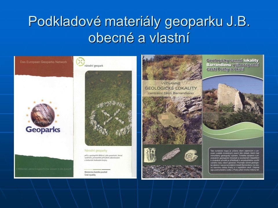 Základ pro činnost – www stránky s pravidelnou aktualizací : www.barrandien.cz