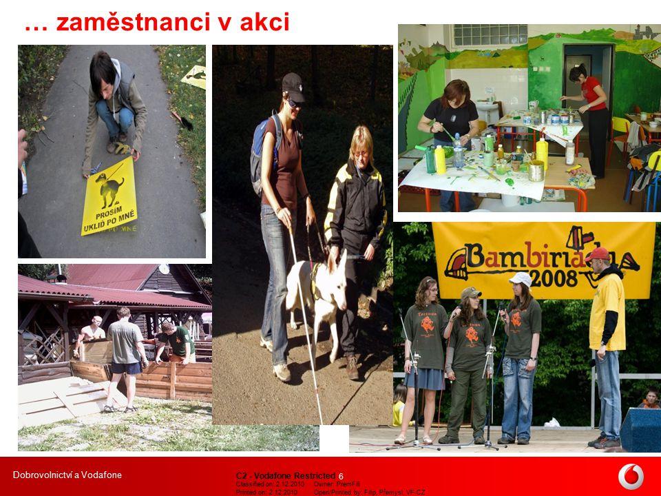 Dobrovolnictví a Vodafone C2 - Vodafone Restricted Classified on: 2.12.2010Owner: PremFili Printed on: 2.12.2010Open/Printed by: Filip, Přemysl, VF-CZ 7 B.