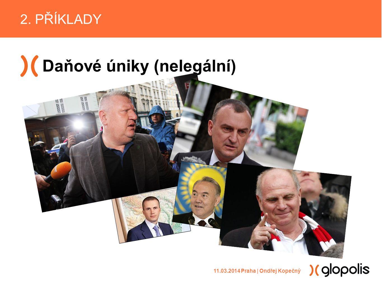 Daňové úniky (nelegální) 2. PŘÍKLADY 11.03.2014 Praha | Ondřej Kopečný