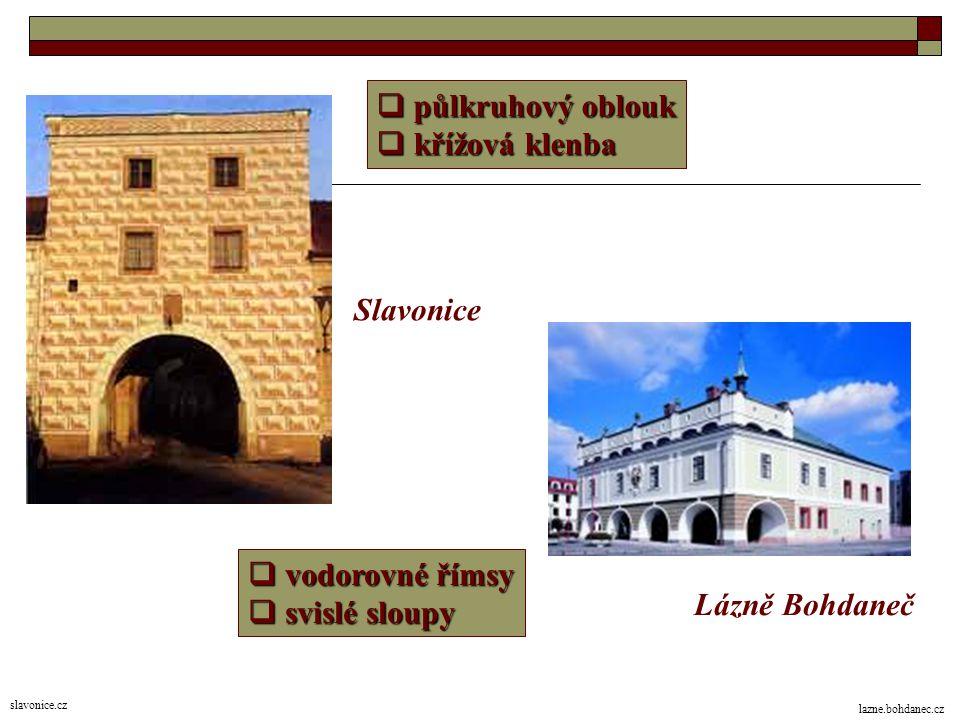 ZNAKY architektury  nevypínají se do výšky  rozkládají se do šířky  zmizel gotický lomený oblouk Litomyšlský zámek zamky-hrady.eu