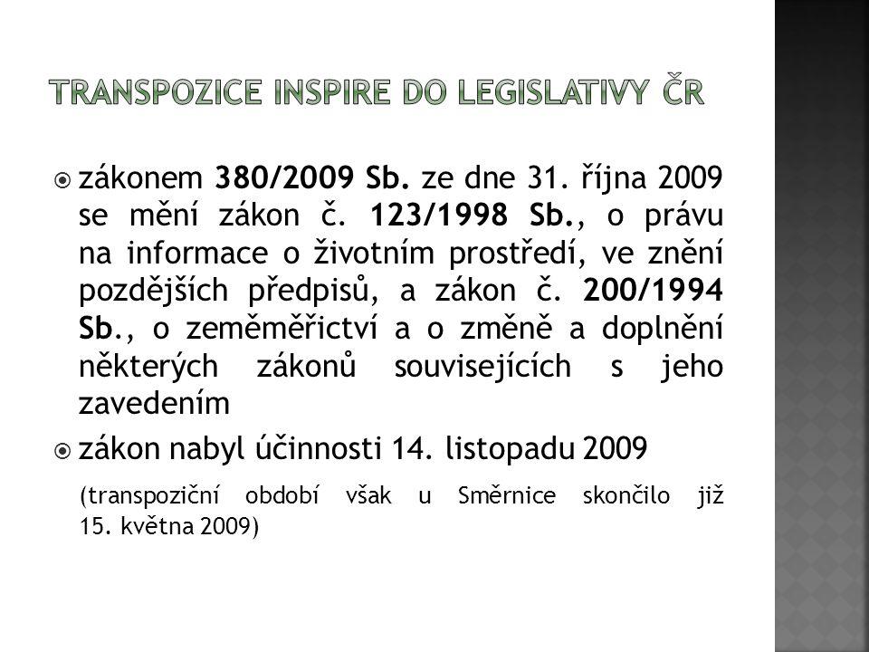  zákonem 380/2009 Sb. ze dne 31. října 2009 se mění zákon č.