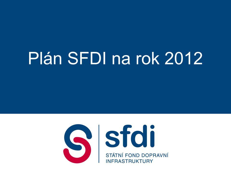 Plán SFDI na rok 2012