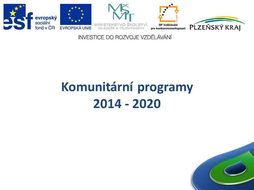 Komunitární programy 2014 - 2020