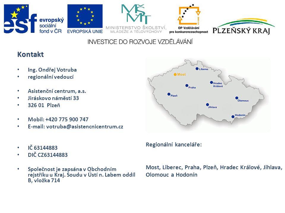 Kontakt Ing. Ondřej Votruba regionální vedoucí Asistenční centrum, a.s.