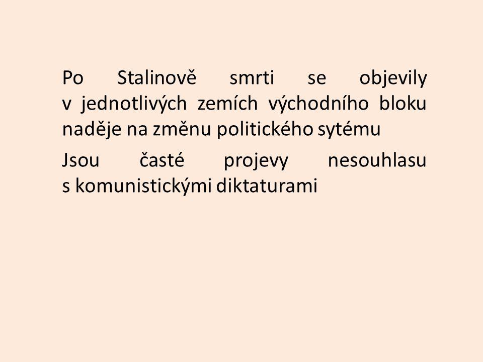 Československo Červen 1953 nepokoje v souvislosti s provedením měnové reformy