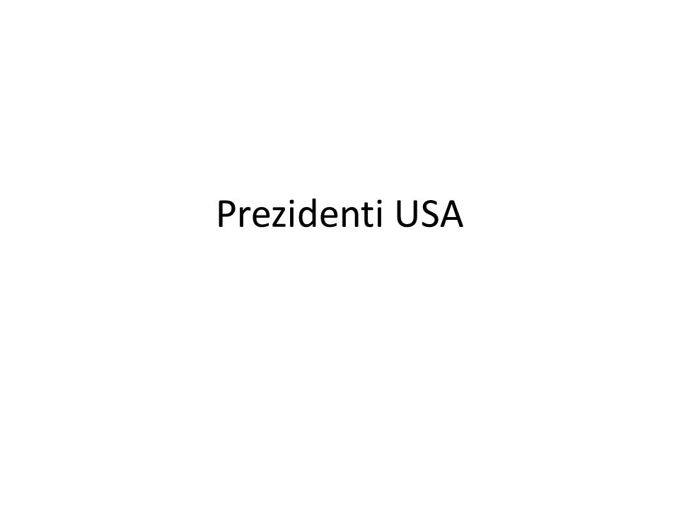 Prezidenti USA