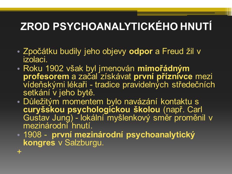 Velkým popudem k rozvoji a uznání psychoanalýzy byla 1.