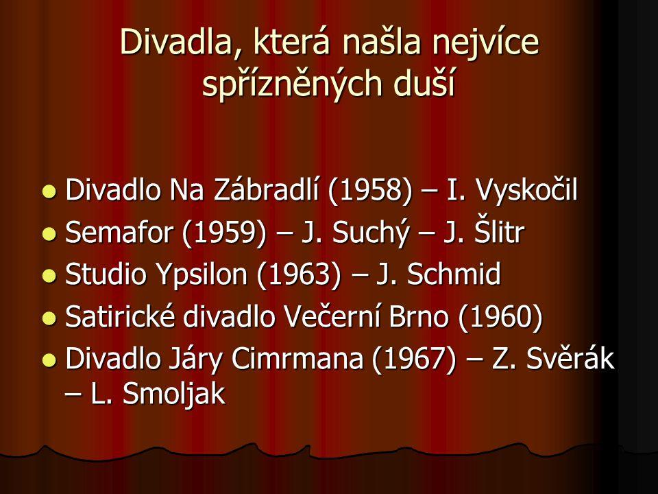 Zakladatelé Semaforu Jiří Suchý 1931 1931 začínal jako grafik začínal jako grafik od pol.