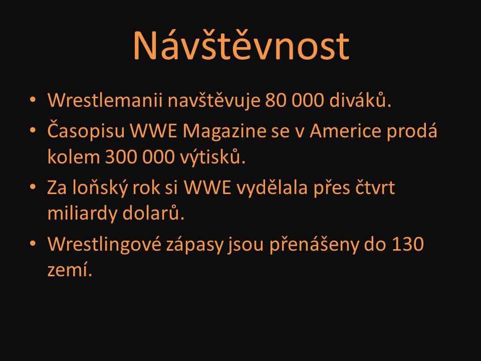 Návštěvnost Wrestlemanii navštěvuje 80 000 diváků. Časopisu WWE Magazine se v Americe prodá kolem 300 000 výtisků. Za loňský rok si WWE vydělala přes