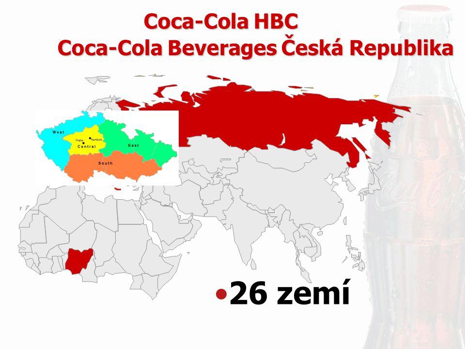 26 zemí Coca-Cola Beverages Česká Republika