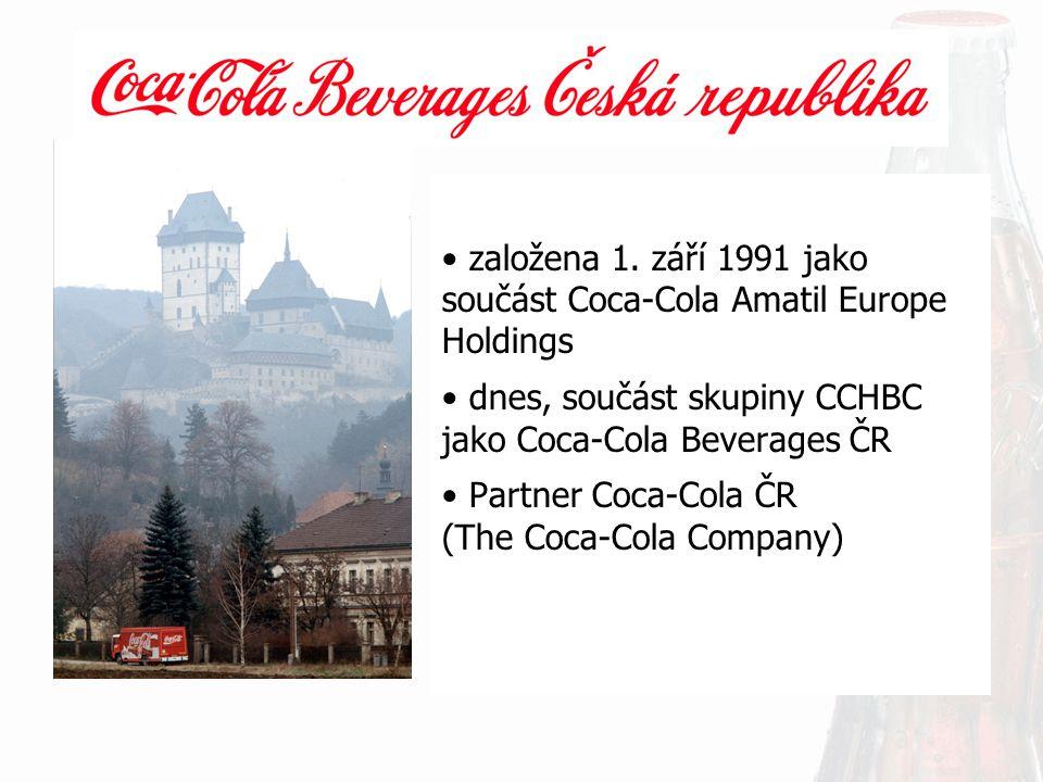 založena 1. září 1991 jako součást Coca-Cola Amatil Europe Holdings dnes, součást skupiny CCHBC jako Coca-Cola Beverages ČR Partner Coca-Cola ČR (The