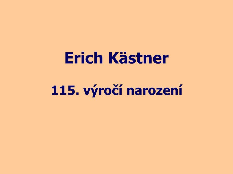 Erich Kästner 115. výročí narození