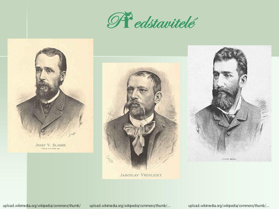 Lumírovci (tzv. škola kosmopolitní) - název podle časopisu Lumír = založený J. Nerudou a V. Hálkem v r. 1873 - časopis se soustřeďoval na původní česk