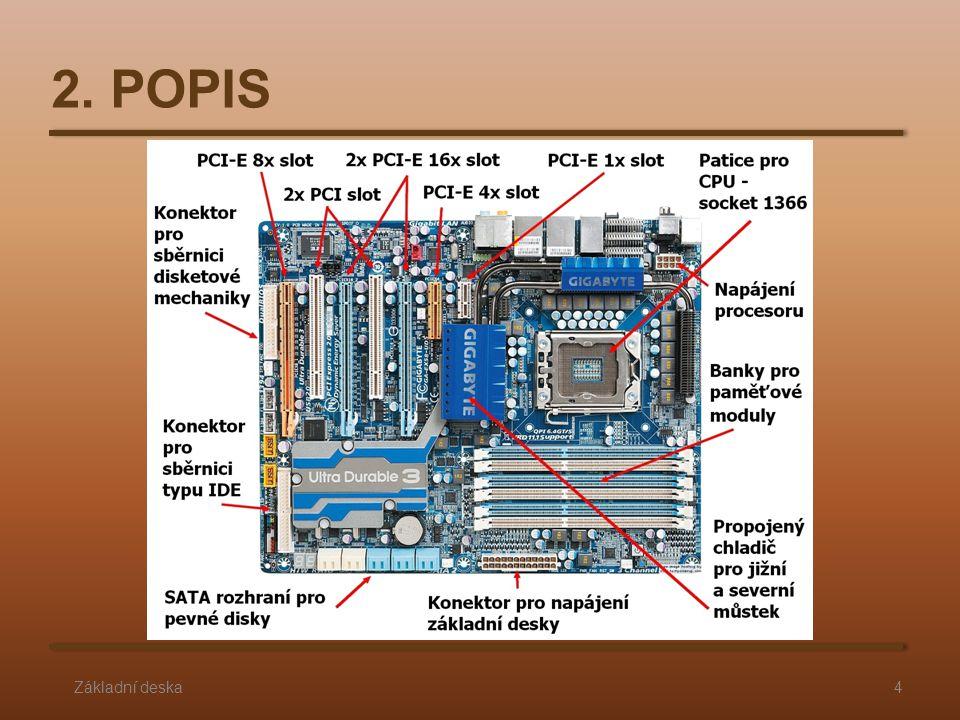 Co zjišťujeme na základní desce: hlavní parametry, které si o základní desce musíme vždy zjistit je formát, sloty, rozhraní pro pevné disky, podporované CPU (nebo-li sockety) a rozhraní pro periferie.