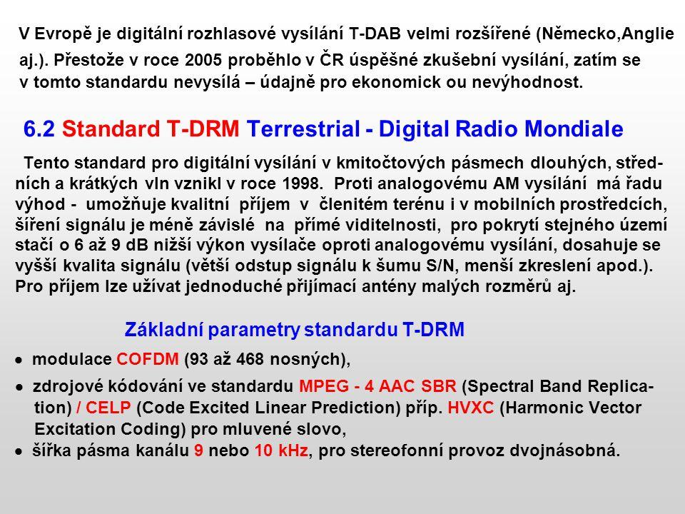 V Evropě je digitální rozhlasové vysílání T-DAB velmi rozšířené (Německo,Anglie aj.). Přestože v roce 2005 proběhlo v ČR úspěšné zkušební vysílání, za