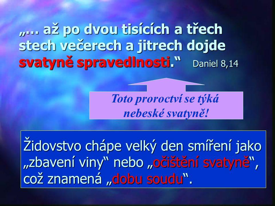 """""""Z toho, co bylo řečeno, plyne: máme velekněze, který usedl po pravici Božího trůnu v nebesích jako služebník pravé svatyně a stánku, který zřídil sám"""