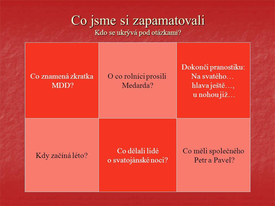 ČERVEN Jan Susa Všechny děti dobře znají červen, když už třešně zrají.
