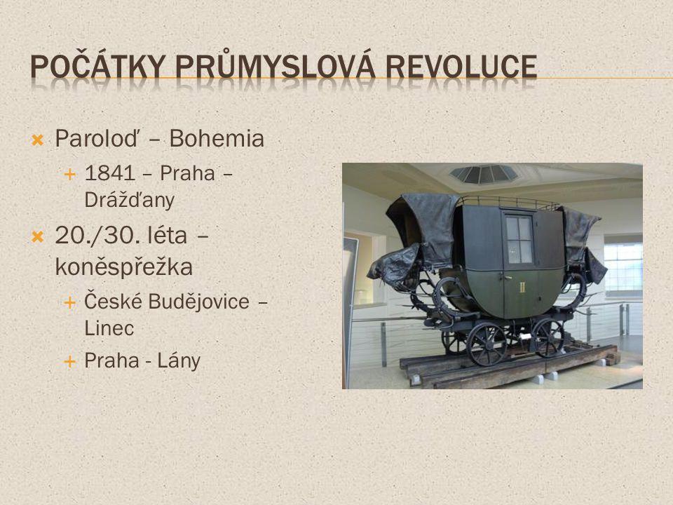  Paroloď – Bohemia  1841 – Praha – Drážďany  20./30.