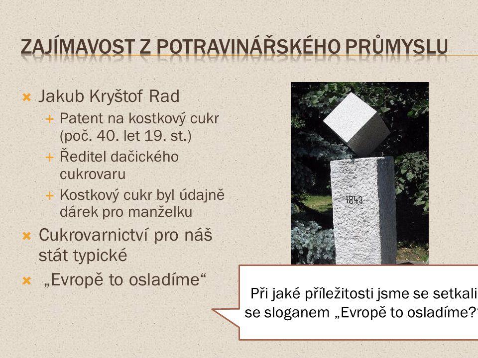  Jakub Kryštof Rad  Patent na kostkový cukr (poč.