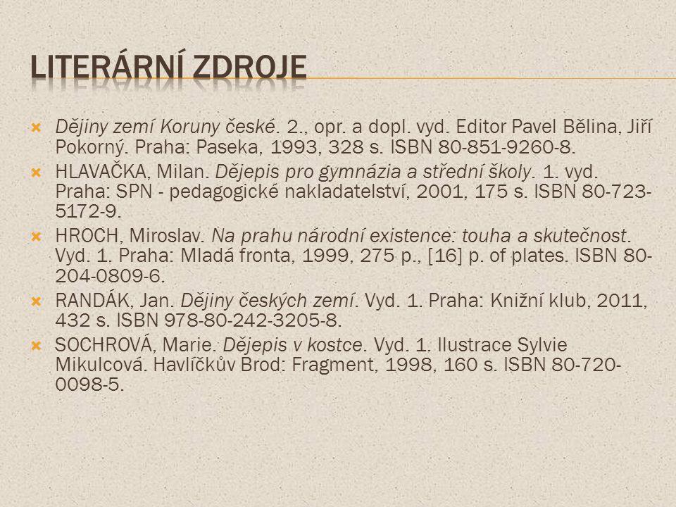  Dějiny zemí Koruny české. 2., opr. a dopl. vyd.